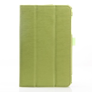Green Horizontal Tree Bark Grain Stand Leather Flip Cover for Acer Iconia B1-720