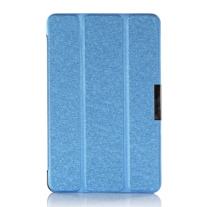 Blue Silk Texture Tri-fold Stand Leather Case for Acer Iconia B1-720