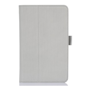Grey Vertical Stripes Flip Leather Stand Cover for Acer Iconia B1-720