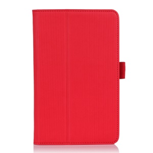 Red Vertical Stripes Flip Leather Case w/ Stand for Acer Iconia B1-720