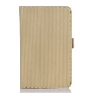 Beige Vertical Stripes Flip Leather Cover w/ Stand for Acer Iconia B1-720