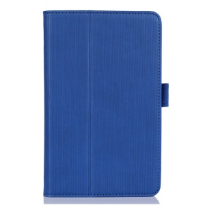 Blue Vertical Stripes Stand Leather Folio Case for Acer Iconia B1-720