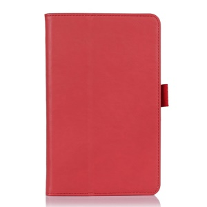 Red Leather Card Holder Case w/ Stand for Acer Iconia B1-720