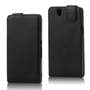 Vertical Flip Leather Case Cover for Sony Xperia Z L36h Yuga C6603
