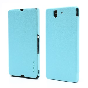 Baseus Grace Ultra-thin Leather Case Cover for Sony Xperia Z C6603 C6602 L36h HSPA+ LTE;Blue