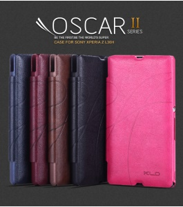 KLD Oscar II Series Leather Case w/ Card Slot Stand for Sony Xperia Z C6603 C6602 L36h HSPA+ LTE