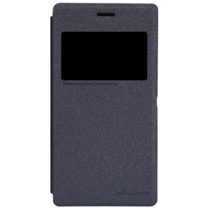 Nillkin Sparkle Series View Window Leather Case for Sony Xperia M2 D2305 D2306 / M2 Dual D2302 - Black