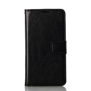 Crazy Horse Texture Flip Leather Case w/ Card Slots for LG L90 D405 D405N - Black