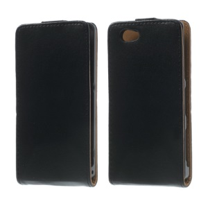 Vertical Flip PU Leather + PC Case for Sony Xperia Z1 Compact D5503
