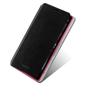 Black MOFI Rui Series Slim Leather Case Shell for Sony Xperia Z1 Compact D5503