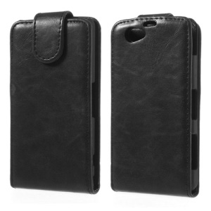 Magnetic Flip Vertical Leather Case for Sony Xperia Z1 Compact D5503 - Black