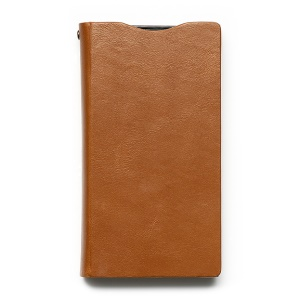 Orange Zenus Signature Diary Leather Cover for Sony Xperia Z1 Compact D5503 w/ Card Slots
