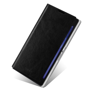 Black MOFI Rui Series for Sony Xperia Z2 D6502 D6503 D6543 PC & Leather Stand Case