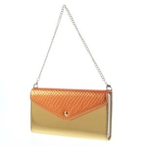 Handbag Style Detachable Magnetic Absorption Leather Wallet Case for Sony Xperia Z2 D6502 D6503 D6543 - Orange