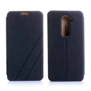 YINJIMOSA Kasco Series Folio Leather Flip Case for LG Optimus G2 D801 D802 - Black