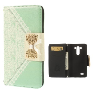 Mr.H Soft Grace Series Lace Pattern Wallet Leather Case for LG G3 D850 D855 LS990