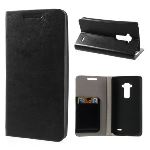 Crazy Horse Leather Case w/ Card Slot for LG G Flex D950 D955 D958 D959 LS995 - Black