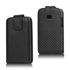Carbon Fiber Leather Case Cover for LG Optimus L3 E400