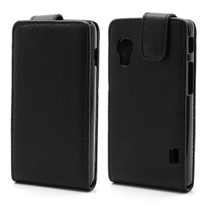 Vertical Leather Flip Case Accessories for LG Optimus L5 II Dual E455 Duet