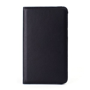360-degree Rotary Stand Litchi Grain Leather Cover for ASUS Fonepad 7 FE170CG - Black