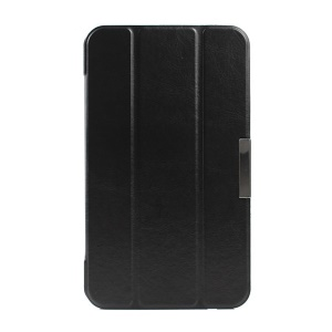 For ASUS Fonepad 7 FE170CG Crazy Horse Pattern Tri-fold Stand Flip Leather Case - Black