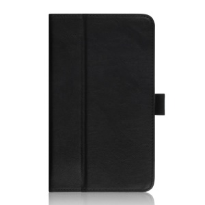 Black Card Slots Leather Stand Shell w/ Handstrap for ASUS Fonepad 7 FE170CG