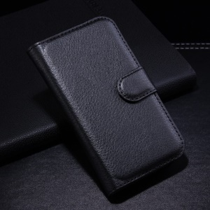 Black Litchi Leather Wallet Stand Case for Samsung Galaxy Ace Style G310