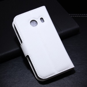 White Litchi Leather Wallet Stand Case for Samsung Galaxy Ace Style G310