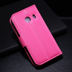 Rose for Samsung Galaxy Ace Style G310 Litchi Leather Wallet Stand Cover