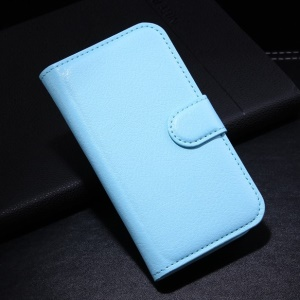 Blue for Samsung Galaxy Ace Style G310 Litchi Leather Wallet Stand Cover Shell