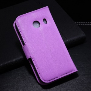 Purple for Samsung Galaxy Ace Style G310 Litchi Leather Wallet Stand Cover Shell