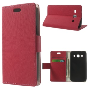 Maze Pattern Leather Magnetic Case w/ Stand for Samsung Galaxy Star 2 Plus SM-G350E - Rose