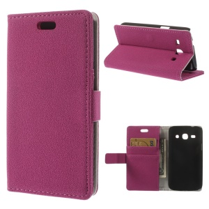 Rose Pebble Grain Magnetic Leather Stand Case for Samsung Galaxy Star 2 Plus SM-G350E
