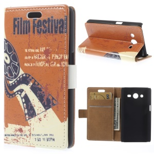 Magnetic Flip PU Leather Case for Samsung Galaxy Core 2 Dual SIM G355H - Film Festival