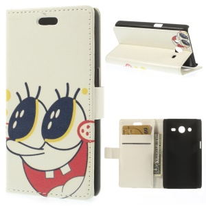 Cute SpongeBob Wallet Leather Case for Samsung Galaxy Core 2 G355H w/ Stand