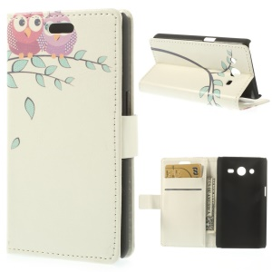 Birds on the Branch Wallet Leather Cover for Samsung Galaxy Core 2 G355H w/ Stand