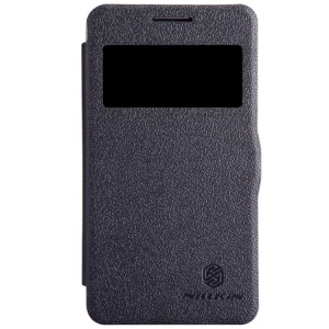 Nillkin Fresh Series Window View Folio Leather Case for Samsung Galaxy Core 2 Dual SIM G355H - Black