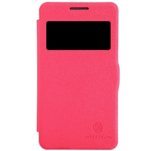 Nillkin Fresh Series Window View Leather Flip Case for Samsung Galaxy Core 2 Dual SIM G355H - Red