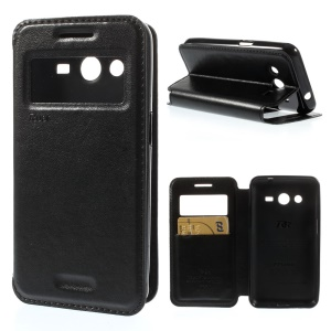 Roar Korea Window View Leather Stand Case for Samsung Galaxy Core 2 G355H - Black