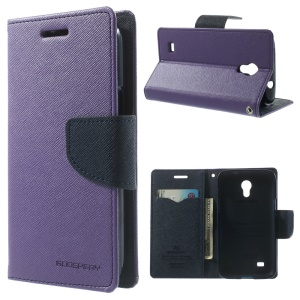 Mercury Fancy Diary Leather Stand Cover for Samsung Galaxy Core Lite LTE G3586 - Purple