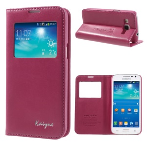 Rose KAIYUE Caller ID View Window Flip Leather Case Stand for Samsung Galaxy Win Pro G3812