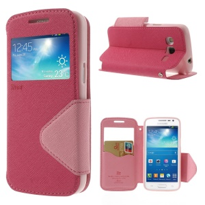 Roar Korea Fancy Diary for Samsung Galaxy Express 2 II G3815 Window View Leather Case - Pink / Rose