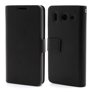Doormoon Genuine Card Holder Leather Case for Huawei Ascend G510 U8951D - Black