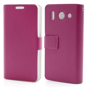Doormoon Genuine Card Holder Leather Case for Huawei Ascend G510 U8951D - Rose