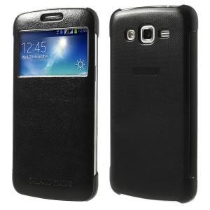 S View Folio Smart Wake Sleep Leather Case for Samsung Galaxy Grand 2 Duos G7102 G7105 - Black