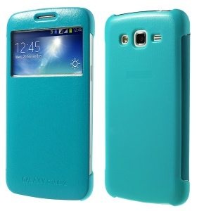 S View Smart Folio Leather Flip Case for Samsung Galaxy Grand 2 Duos G7100 G7105 - Baby Blue
