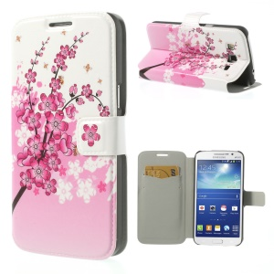 Plum Blossom for Samsung Galaxy Grand 2 Duos G7102 G7100 Flip Leather Card Holder Case