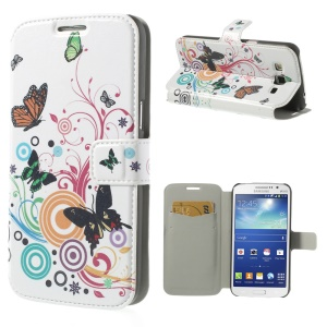 Colored Butterflies & Bubbles for Samsung Galaxy Grand 2 Duos G7102 Leather Card Holder Case