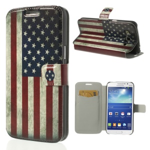 Retro US Flag for Samsung Galaxy Grand 2 Duos G7102 G7100 G7105 Leather Card Slot Cover
