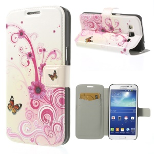 Floral Butterflies for Samsung Galaxy Grand 2 Duos G7102 G710S Magnetic PU Leather Cover